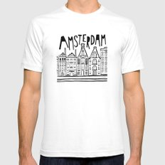 Amsterdam SMALL Mens Fitted Tee White