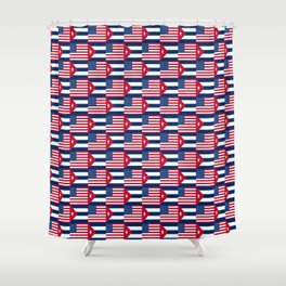 Mix of flag: usa and Cuba Shower Curtain
