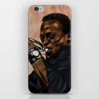miles davis iPhone & iPod Skins featuring Miles, jazz will never be the same by The Art Warriors
