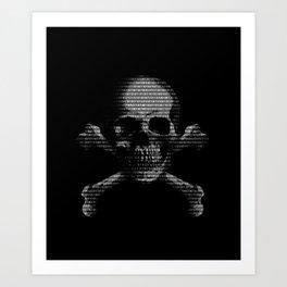 Hacker Skull and Crossbones Art Print