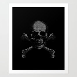 Hacker Skull and Crossbones Art Print