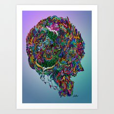 Consciousness on Fire Art Print
