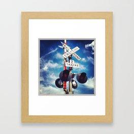 Rail Road Crossing Framed Art Print