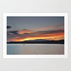 Calm paradise.... Art Print