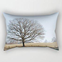 Tree In A Field Rectangular Pillow