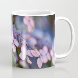 Blooming Rose Blue and Red Hydrangea Hortensia Flowers Coffee Mug