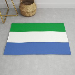 Sierra Leone country flag Rug