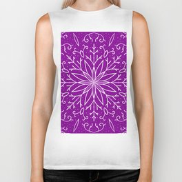Single Snowflake - Purple Biker Tank