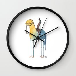 Numero 1 -Cosi che cavalcano Cose - Things that ride Things- NUOVA SERIE - NEW SERIES Wall Clock