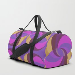 Gold And Purple Rings Duffle Bag