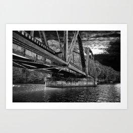 Night Bridge Art Print