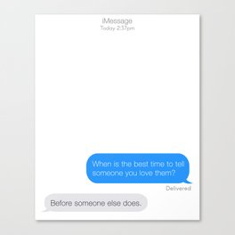 Textual Love. Canvas Print