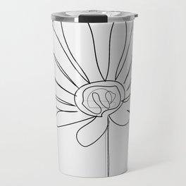 """"""" Botanical Collection """" - Gazania Flower With Grey Background Travel Mug"""