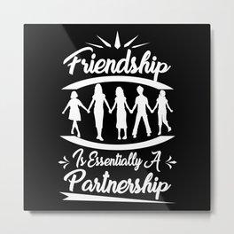 Friends Sailing Friendship Metal Print