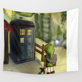 two worlds collide (Doctor Who and Leyend of zelda) Wall Tapestry