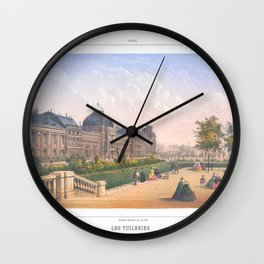 Les tuileries Paris France Wall Clock