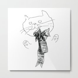Crappy Cat 1! Metal Print