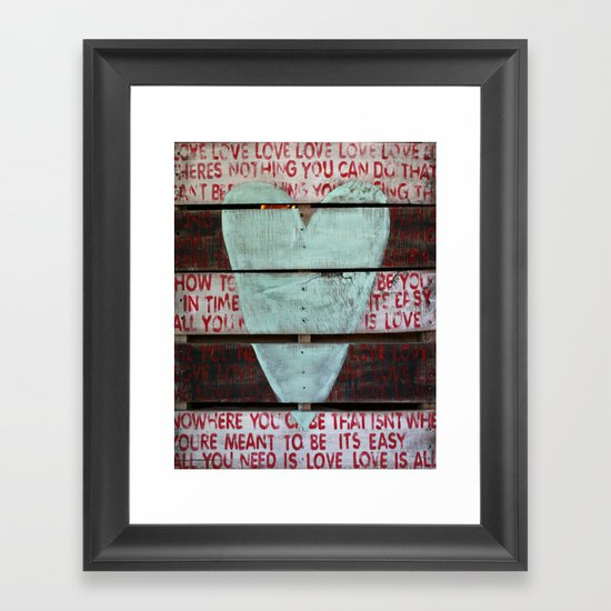 Beatles All You Need Is Love Framed Art Print