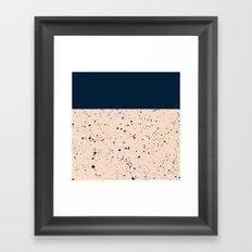 XVI - Dark Blue Framed Art Print