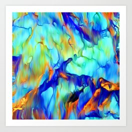 Cascading Waterfall Art Print