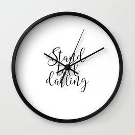 Office Wall art Office Decor Printable Wall Art Stand Tall Darling Boss Lady Girl Boss Inspirational Wall Clock