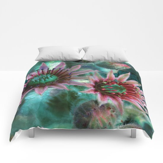 Succulents Flower Garden Comforters