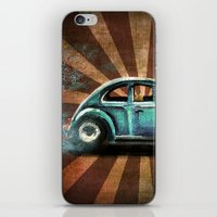 volkswagon iPhone & iPod Skins featuring Punch Bug by Cindy Thornton