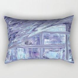 Between The Lines (Blue) Rectangular Pillow