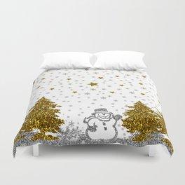 Beautiful glitter New Year on white Duvet Cover