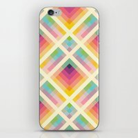iPhone & iPod Skins featuring Retro Rainbow by Fimbis