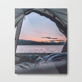 Wild camping Metal Print