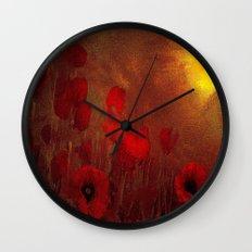 FLOWERS - Poppy heaven Wall Clock
