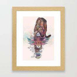Journeying Spirit (Mountain Lion) Framed Art Print