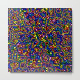 Liquid Rainbow Metal Print