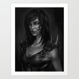 Mileena Portrait Art Print