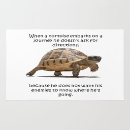 When A Tortoise Embarks On A Journey African Proverb Rug