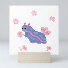 Cherry blossom slug Mini Art Print