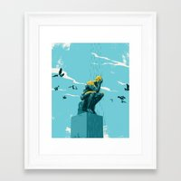 depression Framed Art Prints featuring Depression by mark smith