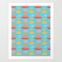 macaron Art Prints featuring Macaron by Ashley C. Kochiss