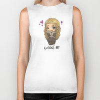 cuddle Biker Tanks featuring Cuddle me by ScottyTheCat