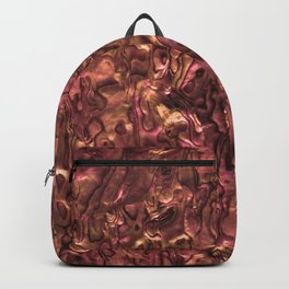 Abalone Shell | Paua Shell | Copper and Pink Tint Backpack