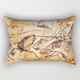 Panel of Lions // Chauvet Cave Rectangular Pillow