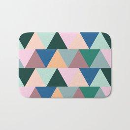 Triangular Geometric Pattern Bath Mat