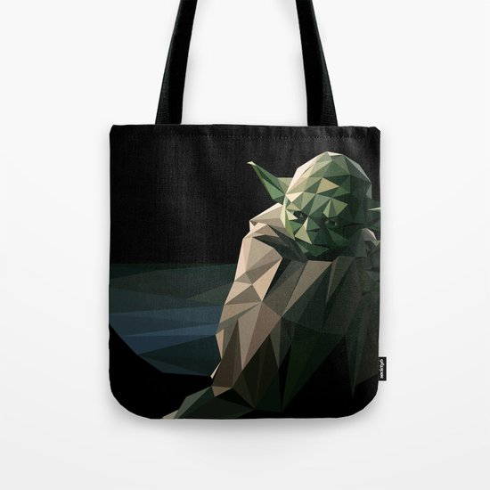 Geometric Yoda Tote Bag