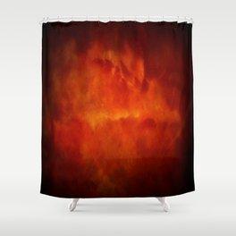 Firestorm In Heaven - Gothic Glam Clouds Shower Curtain