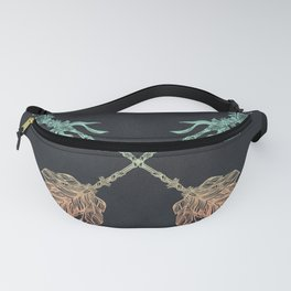 Arrows Turquoise Coral on Navy Fanny Pack