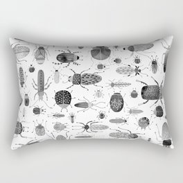 Ink Beetles Rectangular Pillow