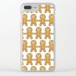 Gingerbread Cookies Pattern Clear iPhone Case