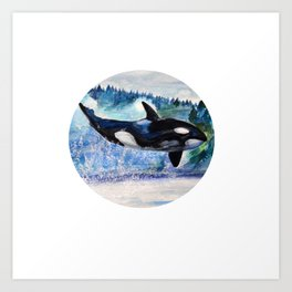 Whale of Freedom Art Print