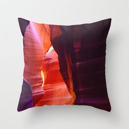 Mystical and Mysterious Antelope Slot Canyon Throw Pillow